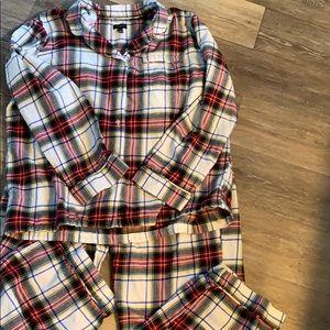 Talbots Flannel pajama set!  NEW size XL